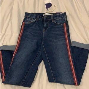 Zara Stripe Skinny Jeans